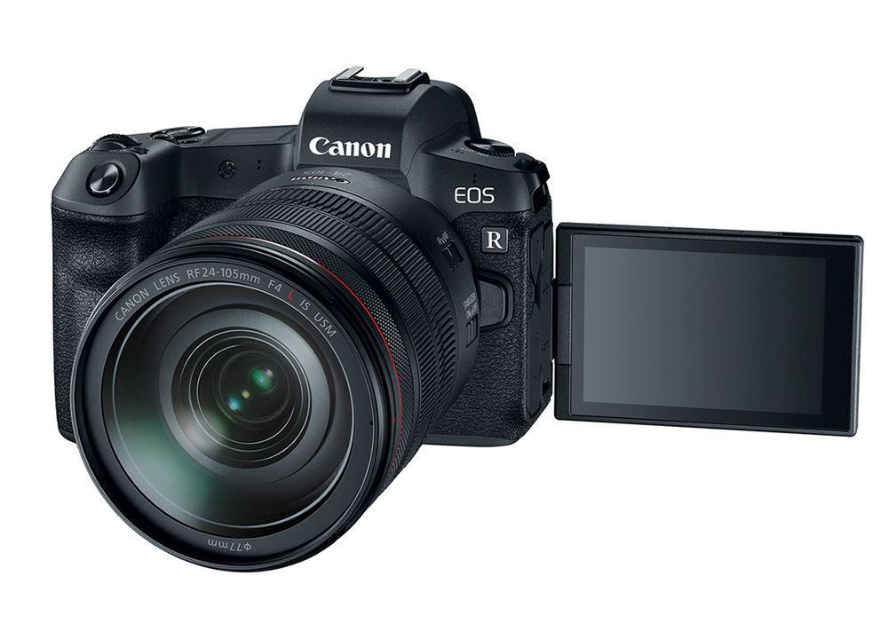 Canon EOS R systeemcamera Zwart + RF 24-105mm f-4.0L + EF-adapter