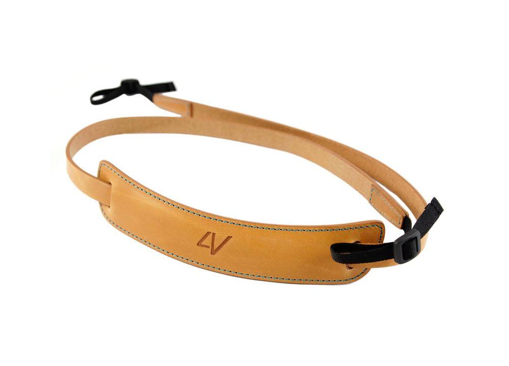 Afbeelding van 4V Design Classic Medium Neck Strap Tuscany Leather Natural/Cyan
