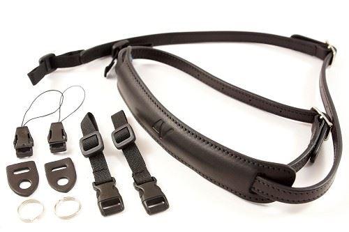 Afbeelding van 4V Design Lusso Slim Draagriem Tuscany Leather Black/Black
