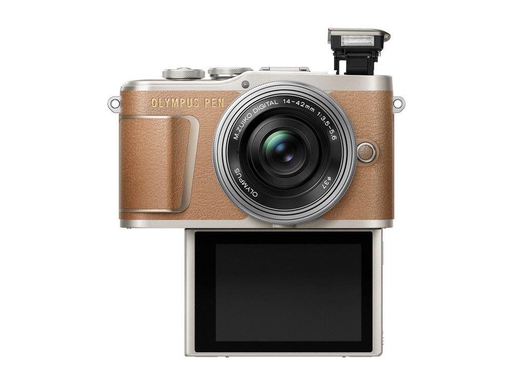 Olympus PEN E-PL9 systeemcamera Bruin + 14-42mm EZ