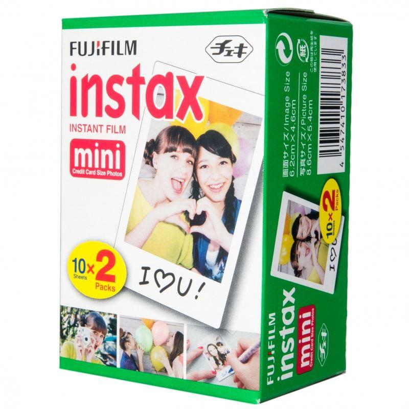 Fujifilm Instax Mini EU2 Colorfilm Glossy 10x2 pak Op werkdagen voor 23:59 besteld, morgen in huis Fotocamera's / Instant camera / Instant camera