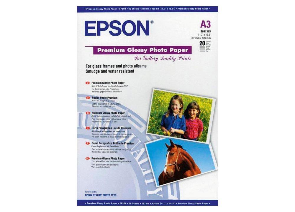 Epson Premium Glossy A3+ Photo Paper 255g 20vel
