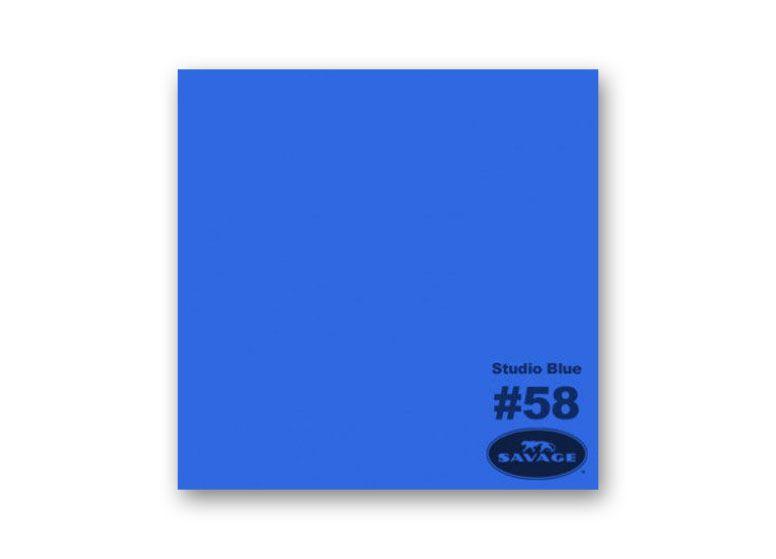 Savage Achtergrondrol 1,38 x 11 - Studio Blue (nr 58)