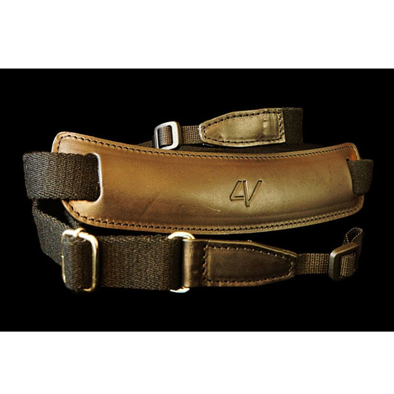 Afbeelding van 4V Design Lusso Large Draagriem Tuscany Leather Black/Black