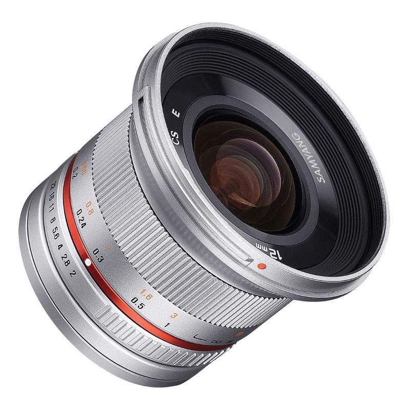 Samyang 12mm f/2.0 NCS CS Canon M - Zilver
