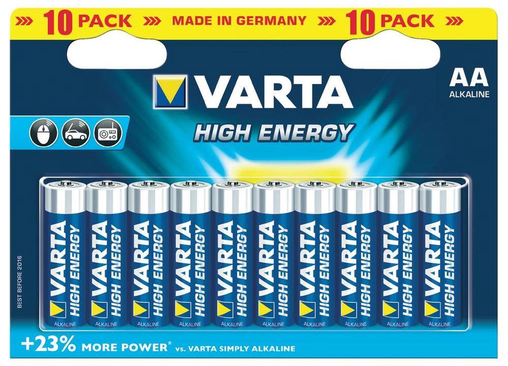 High Energy Aa Lr6 10 Pak