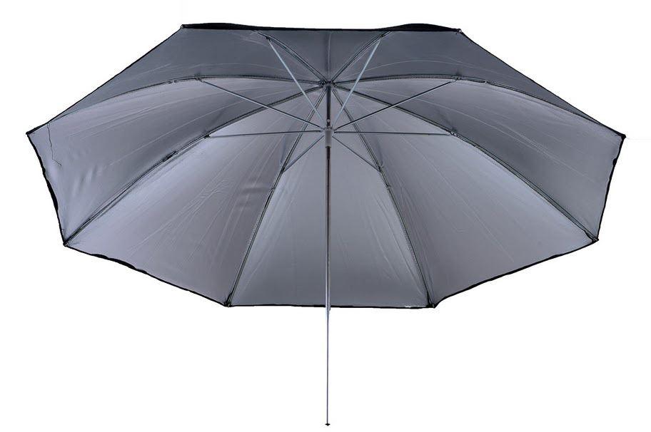 Afbeelding van 405 Photogear Flitsparaplu Zwart/ Zilver 104 Cm