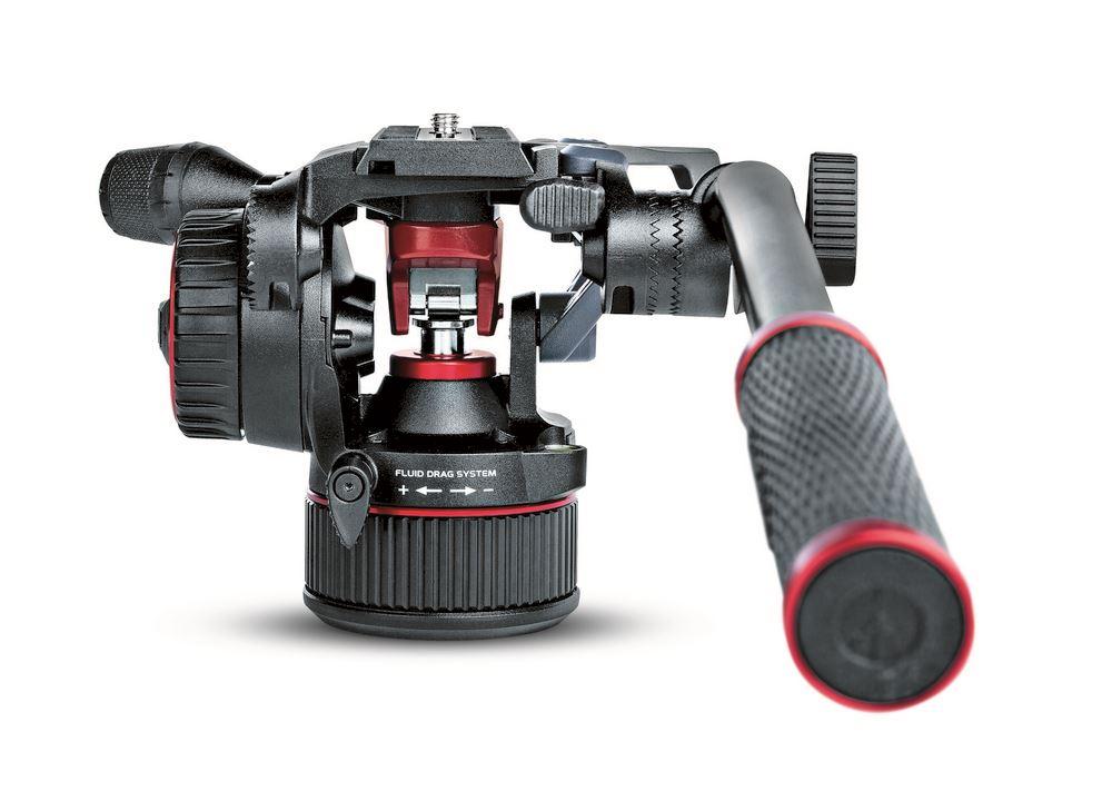 Manfrotto Nitrotech N8 Fluid Video + 546B Twin MS Kit