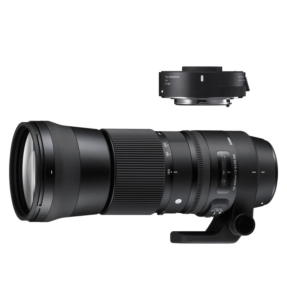 Sigma 150-600mm f/5.0-6.3 DG OS HSM Contemporary Canon + TC-1401