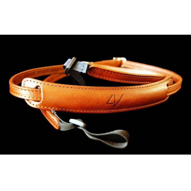 Afbeelding van 4V Design Lusso Slim DraagriemTuscany Leather Brown/Brown