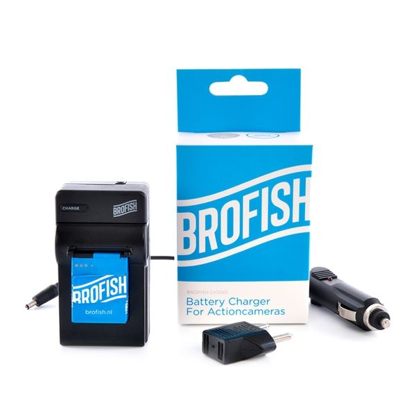 Brofish Battery Wall & Car Charger voor Hero 4
