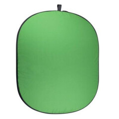 Caruba Opvouwbare Achtergrond Groen/Blauw Katoen 150x200 cm