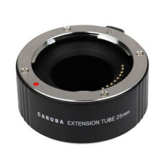 Caruba Tussenring 25mm voor Olympus Four Thirds Chroom