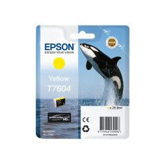 Epson T7604 Inktcartridge Foto high capacity 25,9ml - Geel