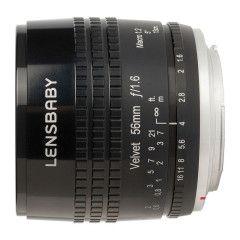 Lensbaby Velvet 56 Nikon F - Zwart