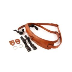 4V Design Lusso Medium Neck Strap Tuscany Leer - Brown/Brown