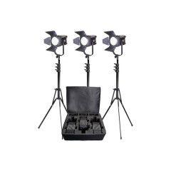 LedGo D600 LED Fresnel Kit (drie lampen)