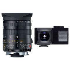 Leica Tri-Elmar-M Set 16-18-21mm f/4.0 - Zwart + Universal Wide-Angle Viewfinder