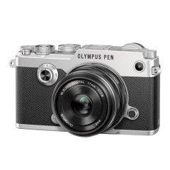 Olympus PEN-F Zilver + 17mm