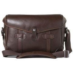 Barber Shop Pageboy - Small Messenger Dark Brown Leather