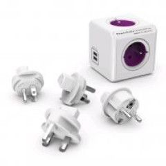 Allocacoc PowerCube ReWirable USB + Plug 3 Stuks (FR)