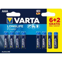 Varta Alkaline Batterij AAA 1.5 V High Energy 8-Promotional