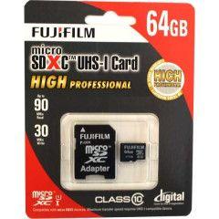 Fujifilm microSDXC 64GB Pro C10 UHS-I w/ Adapt. R90/W30MB/s