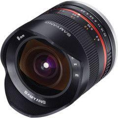 Samyang 8mm f/2.8 Fisheye II Canon M - Zwart
