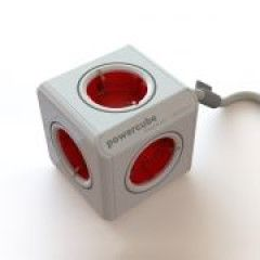 Allocacoc PowerCube Extended Rood 1,5 Meter (FR)