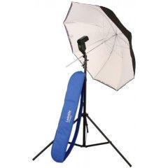 Lastolite Flitsparaplu kit 99cm + stand&2422 tilthead shoe lock