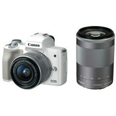 Canon EOS M50 Wit + 15-45mm + 55-200mm