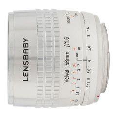 Lensbaby Velvet 56 Nikon F - Zilver
