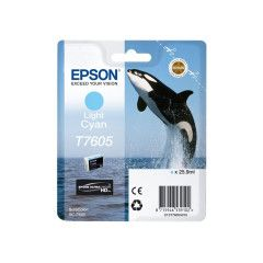 Epson T7605 Inktcartridge Foto high capacity 25,9ml - Licht Cyaan