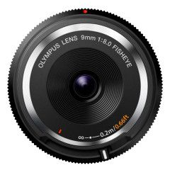 Olympus Body Cap lens 9mm f/8.0 Fisheye - Zwart