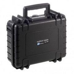 B&W Outdoor Cases Type 1000 - Zwart met Plukschuim