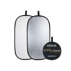 Rogue Reflectiescherm 50x100 2-in-1 Zilver/Wit opvouwbaar