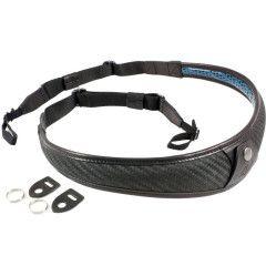 4V Design ALA TOP Neck Strap Metal Ring - Carbon/Black