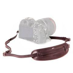 Barber Shop Moustache - Camera Neck Strap - Dark Brown Leather