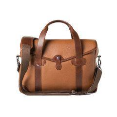Barber Shop Bob Cut - Medium Messenger Grained Brown Leather