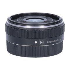 Tweedehands Panasonic Lumix G 14mm f/2.5 ASPH II - Zwart Sn.:CM5505