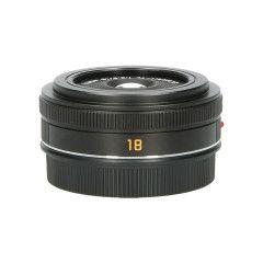 Tweedehands Leica Elmarit-TL 18mm f/2.8 Asph - Zwart Sn.:CM0375