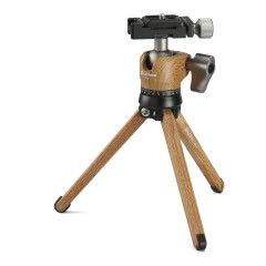 Leofoto Pocket Mini Tripod MT-01 + Ballhead LH-25 Wood