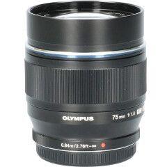 Tweedehands Olympus M.Zuiko Digital ED 75mm f/1.8 - Zwart CM1891