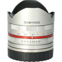 Tweedehands Samyang 8mm f/2.8 Fisheye II Sony E - Zilver CM9348