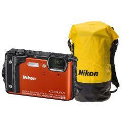 Nikon Coolpix W300 oranje + WP tas