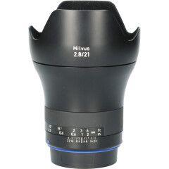 Tweedehands Carl Zeiss Milvus 21mm f/2.8 ZE Canon EF CM0685