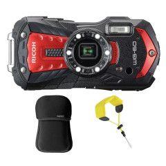 Ricoh WG-60 Kit Red incl drijfriem & neopreen tas