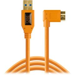 Tether Tools TetherPro USB 3.0 A male naar Micro B Right Angle - 15' Oranje