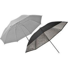 Elinchrom Eco Paraplu Set (Zilver / Transparant) 83cm