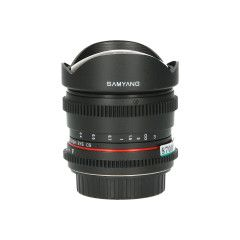 Tweedehands Samyang 8mm f/3.8 T MC Fisheye Canon VDSLR Sn.:CM8700
